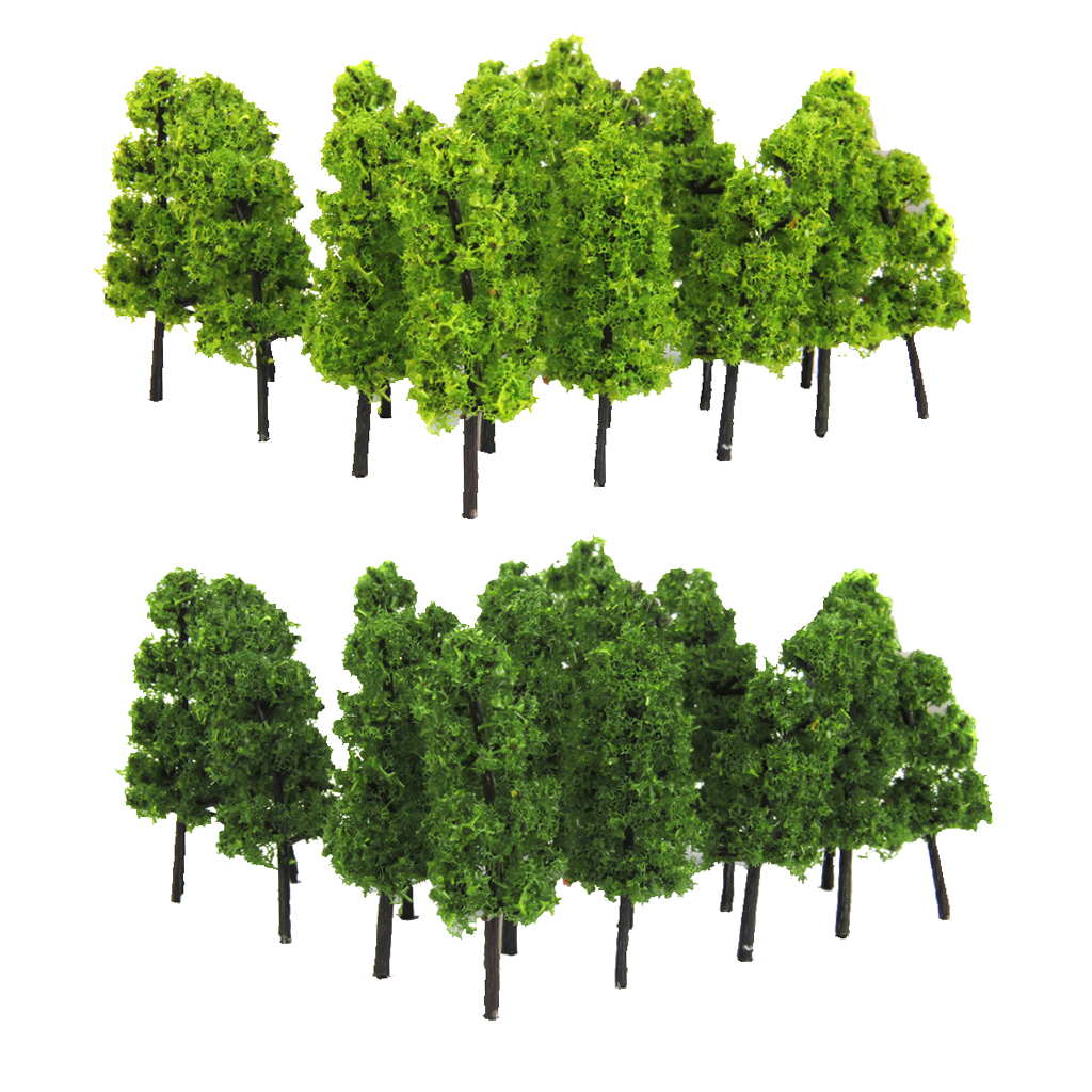 20 Pagoda Trees Model Train Railroad Scenery Dark And Light Green 1/100  HO OO Scale