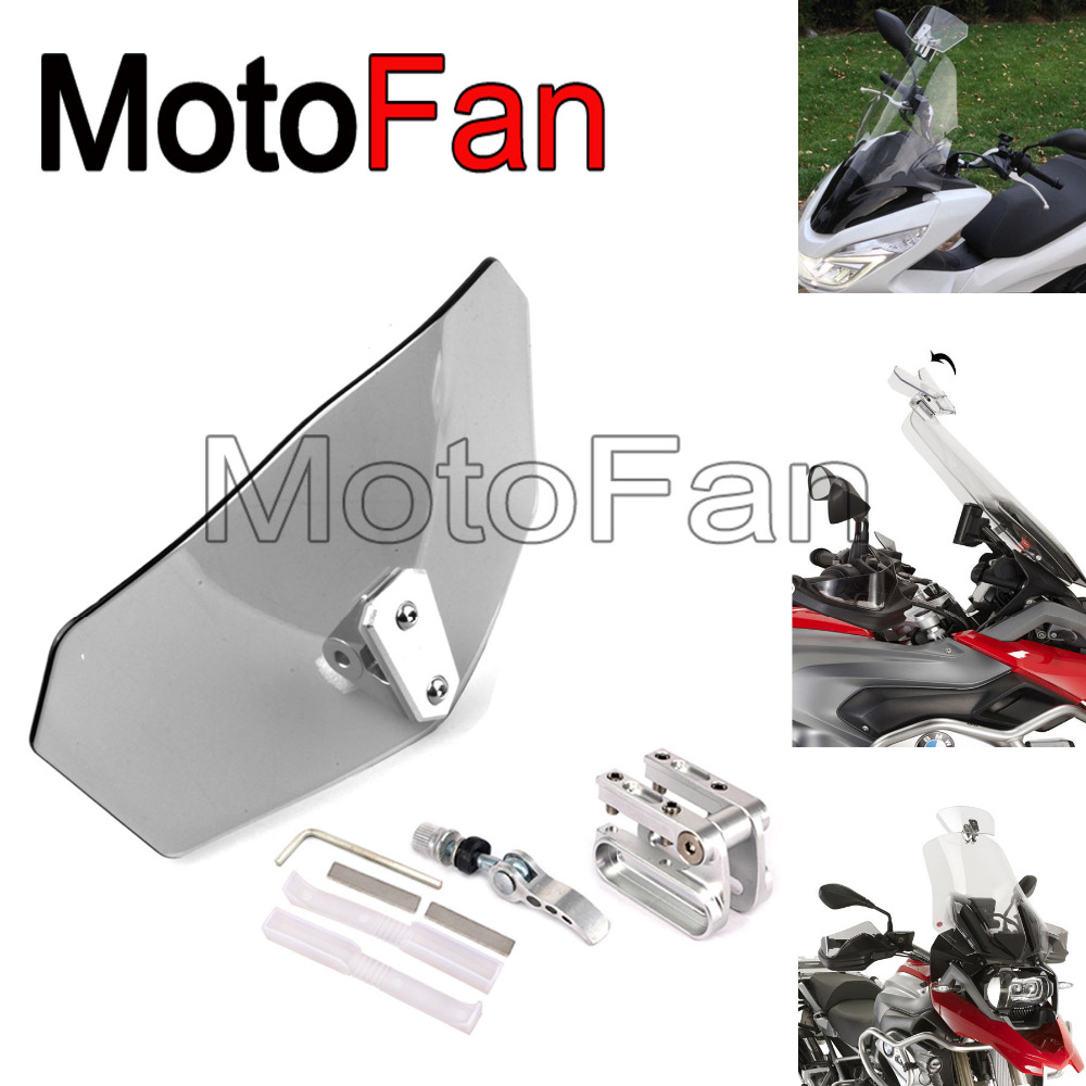 universal motorcycle windshield DIY windscreen extension adjustable for Triumph trophy se 1200 T120 T100 Tiger 800 XR
