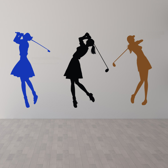 New Golf ball player Wall sticker High quality wall decor glass stickers Golf club casual fashion personality sports