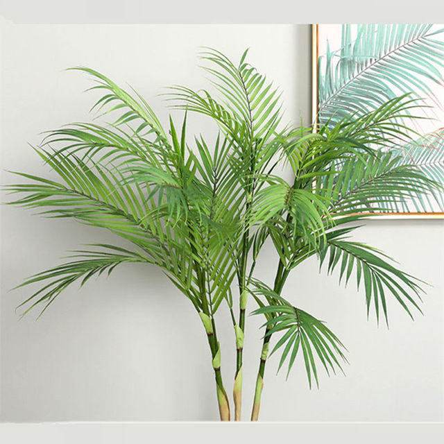 Artificial Palm Tree Branches Wild Faux Foliage Leaves Plants For Home Living Room Wedding Decoration