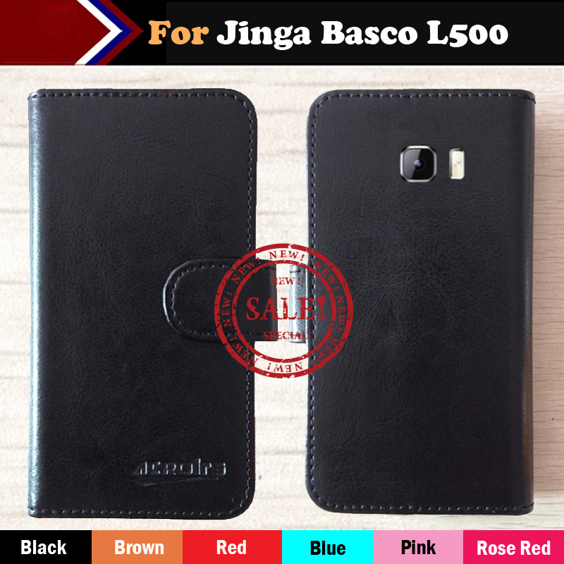 Hot!! Jinga Basco L500 Case Factory Price 6 Colors Dedicated Leather Exclusive For Jinga Basco L500 Phone Cover+Tracking