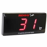 KOSO Quad Square Lcd Digital Display Hygrometer Temperature Sensor Mini Intelligent Motorcycle Thermometer For Honda Cb400