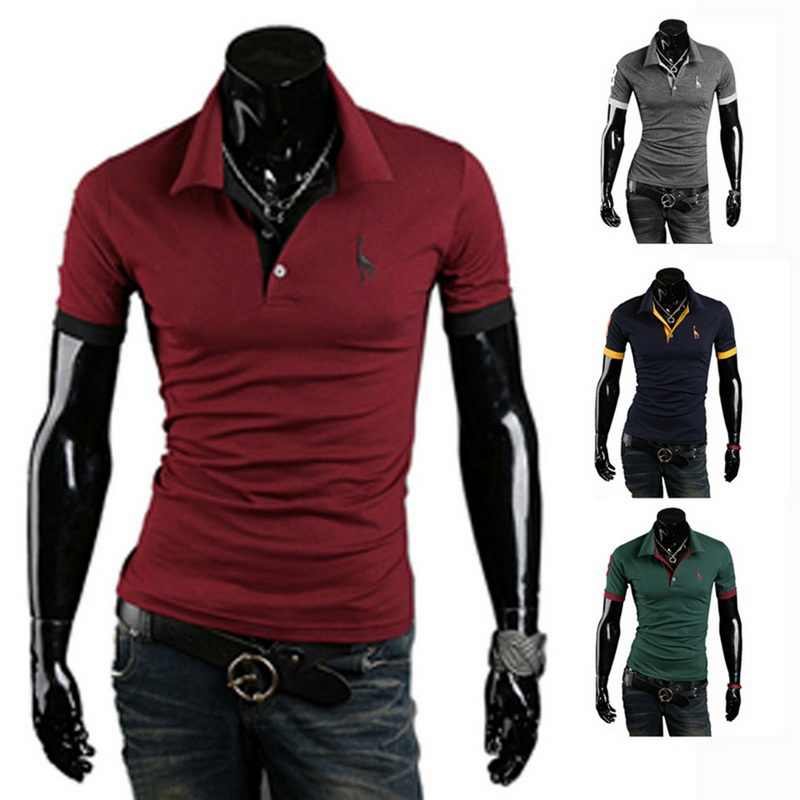 Plus Size Polo Shirt Fashion Men Deer Embroidery Polo Homme 2019 Summer Casual Short Sleeve Male Polo Shirt Top 3XL