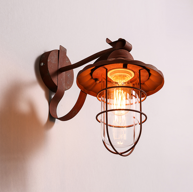 American Vintage Edison Wall Lamp Wrought Iron Do Old Wall Lights