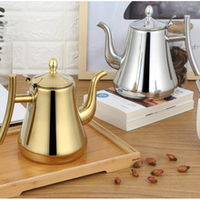 Fashion Gold and Silver Color Tea Pot With Filter Type Hotel Kettle 304 Stainless Steel Water 1L/1.5L/2L