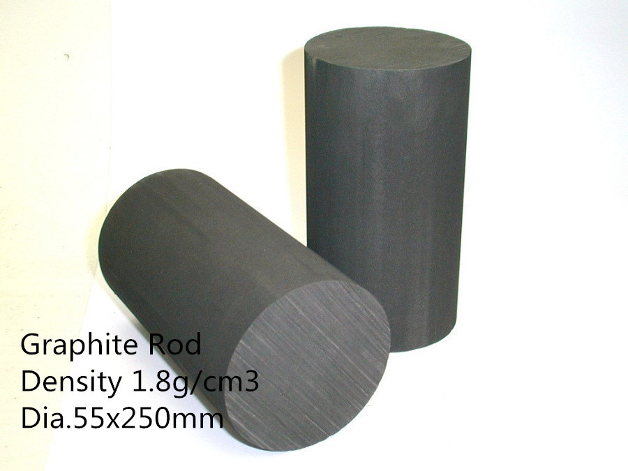 Dia.55*250mm graphite rods / carbon rod / Molded Graphite Round for Sintering molds dia 60 350mm graphite rods spectrum pure graphite for rare earth smelting gouging carbon graphite rod