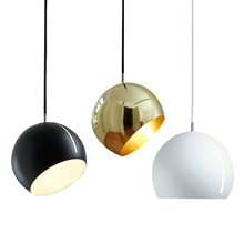 Modern Rotating Pendant Light Creative Indoor Hanging Pendant Lamp Contemporary Suspension Semi -round Bedroom Lighting