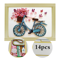 Paper Quilling Paper Assorted Multicolor Handcraft Origami DIY Home Decoration Pressure Relief Gift Manualidades Colorful Bike