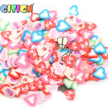 Fruit Slices Charms Slide Addition for Slime Supplies fimo Slimes Polymer Clear Slime Accessories Putty Clay Decoration(China)