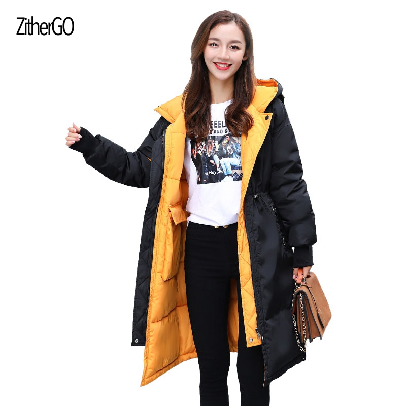 The latest design lady high quality coat in the long section can be worn on both sides of the warm jacket fashion woman outwears baon весна лето 2017 vogue