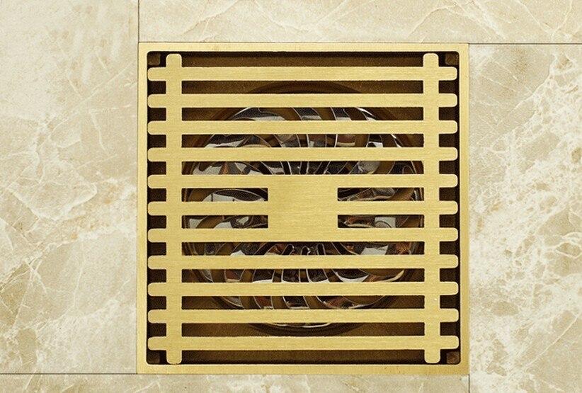 Free shipping copper shower floor drain bathroom water anti-odor floor drain DR066