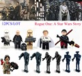 12 UNIDS Star Wars Rogue Uno Darth Aerotanque Imperial Orilla Tropper Dlrector K-2SO Lepin droid Compatible Bloques de Juguete