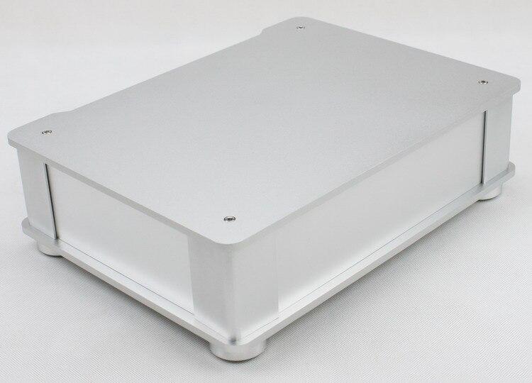Plein châssis en aluminium d'amplificateur Audio/boîtier de préampli/boîte d'ampli de Tube/boîtier de DAC 326*82*245mm avec des pieds en aluminium de Machine