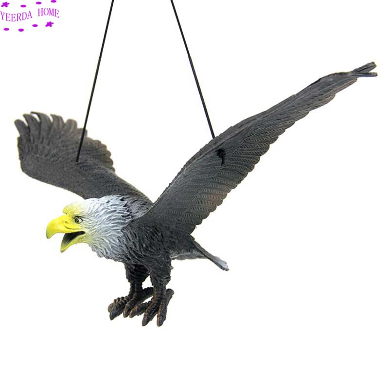 NEW Style 1Pc Practical Lifelike Flying Bird Hawk Decoy Pest Control Lawn Garden Family Farms Outdoor Decoration Plant Scarecrow