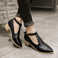 New Popular 4 Colors Women Casual Shoes Fashion Pointed Toe Square Heels Black White Silver Brown Beautiful Shoes Woman