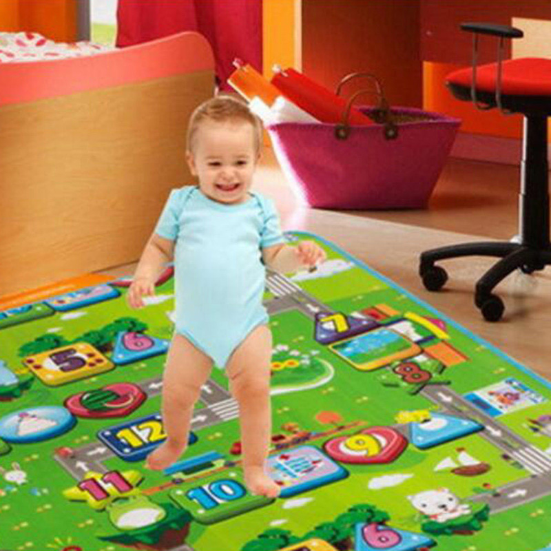 Large Kids Soft Play Mat 90 117cm Cartoon Numbers Safety