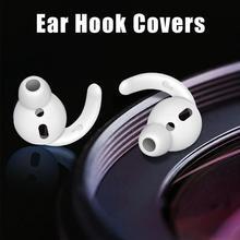 3 pares de auriculares de silicona en forma de gancho estabilizador en la oreja antideslizante ganchos de oreja cubre accesorios para AirPods auriculares con cable