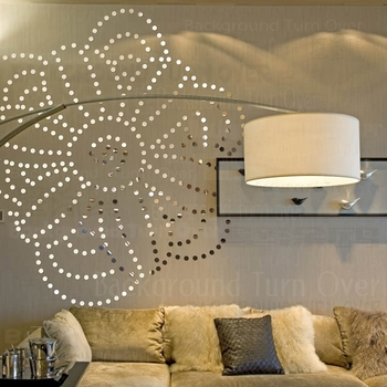 Creative DIY circle dot Rose flower wall sticker home decor for bedroom bed head room decoration wall art 3d sticker poster R090