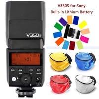 Godox TTL V350S 2.4G Câmera Flash Speedlite com Bateria Interna Recarregável Li ion para Sony a7R a7RIII a7RII a58 a99 a77/II Flashes     -