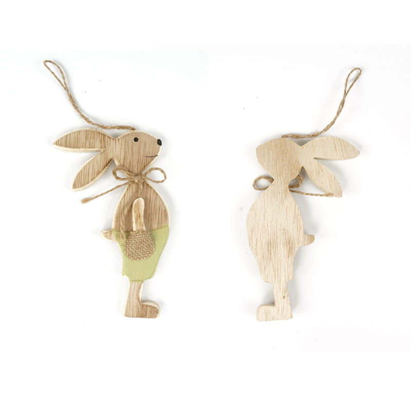 easter decorations 6pcs set wood easter rabbit plywood party decorations for home decoration easter bunnier free shipping in Party Favors from Home Garden