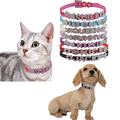 Hot Sale Pet Personalized Collar 10MM Bling Leather Free Name Customized Cat Dog Puppy Pet Name Collar
