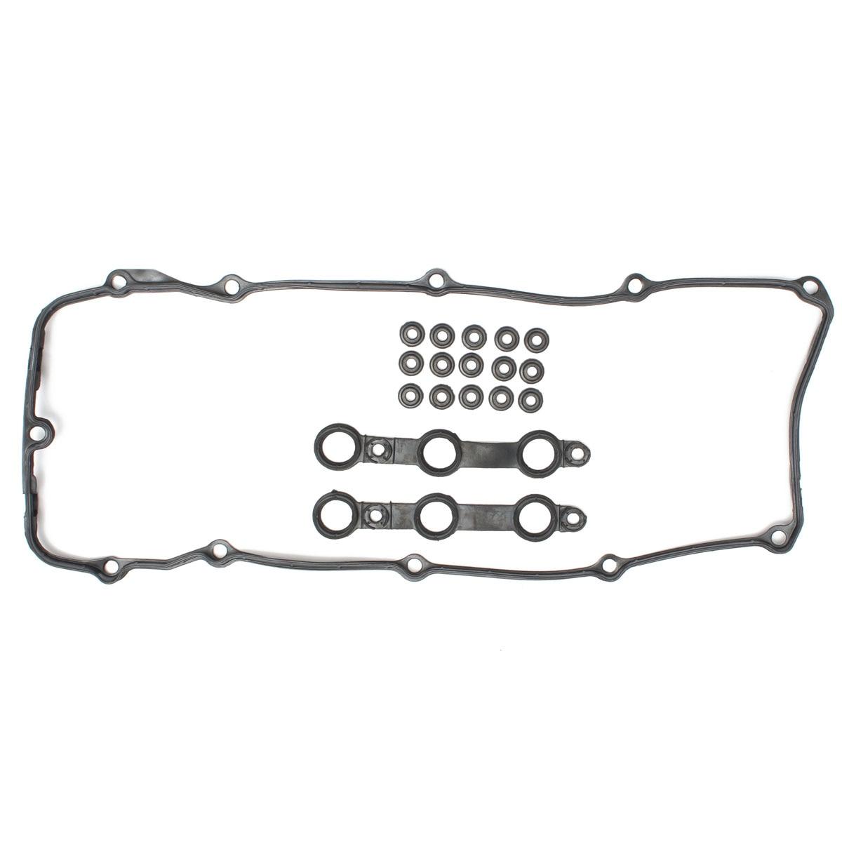 Oil Filter Valve Cover Set Seal Gasket Black For Bmw 325