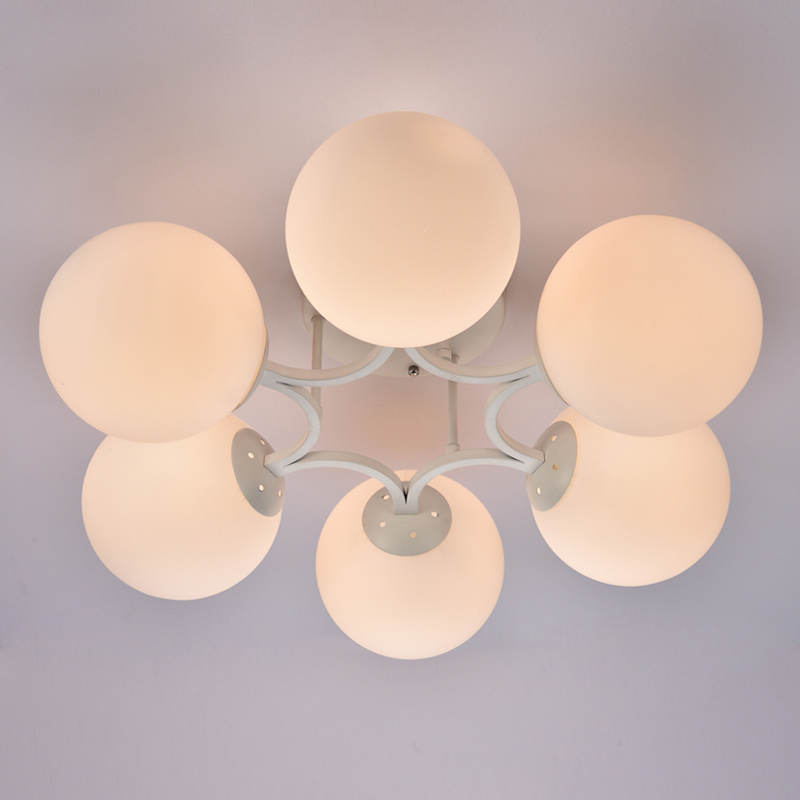 ФОТО white color nordic style modern simple ceiling lamp bed room lamp living room light home decoration lighitng with LED bulbs