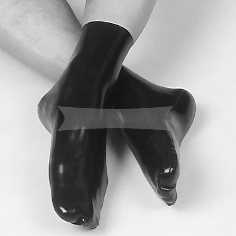 Calcetines de látex vestido de lencería sexy calcetines de goma - Disfraces - foto 1
