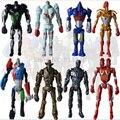 8 unids/set nuevo 2016 super hero película fresca figura de acción juguetes real steel atom midas zeus muchachos regalo figuras de acción juguetes YZ #
