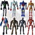 8pcs/set New 2016 Super Hero Movie Action Cool Figure Toys Real Steel Zeus Atom Midas Boys Gift Action Figures Toys YZ#
