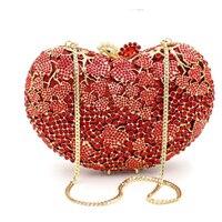 female luxury Evening Bag Crystal Bridal Party Purse Diamond Wedding Bag Rhinestone Box Clutch Bag messenger crossbody bag lady