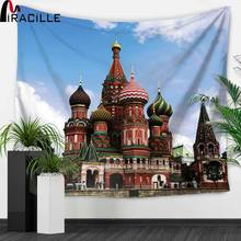 Miracille Russian Vasile France Eiffel Tower Pattern Wall Hanging Tapestries Home Decorative Tapestry Gobelin Beach Towel  цена 2017