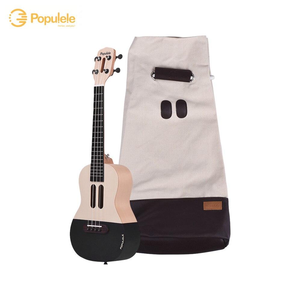 23 Smart Konzert Ukulele Ukulele Uke Kit mit LED licht für Anfänger mit Tragen Tasche Saiten Capo Picks USB ladekabel - 3
