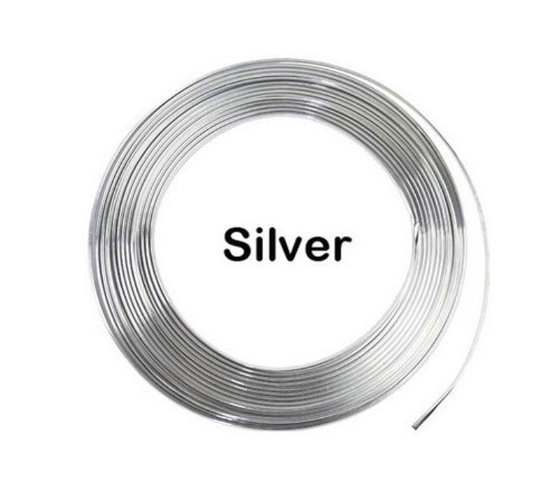 Ny U Style Durable 5 meter Silver Car Chrome Styling Dekoration - Bil interiör tillbehör - Foto 4