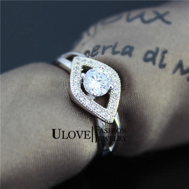 Platinum Plated Wedding Girls Crystal Zircon Ring 2015 Jewelry Luxury Zircon Women Fashion Jewelery 2014 Size 6 7 8 9 Ulove