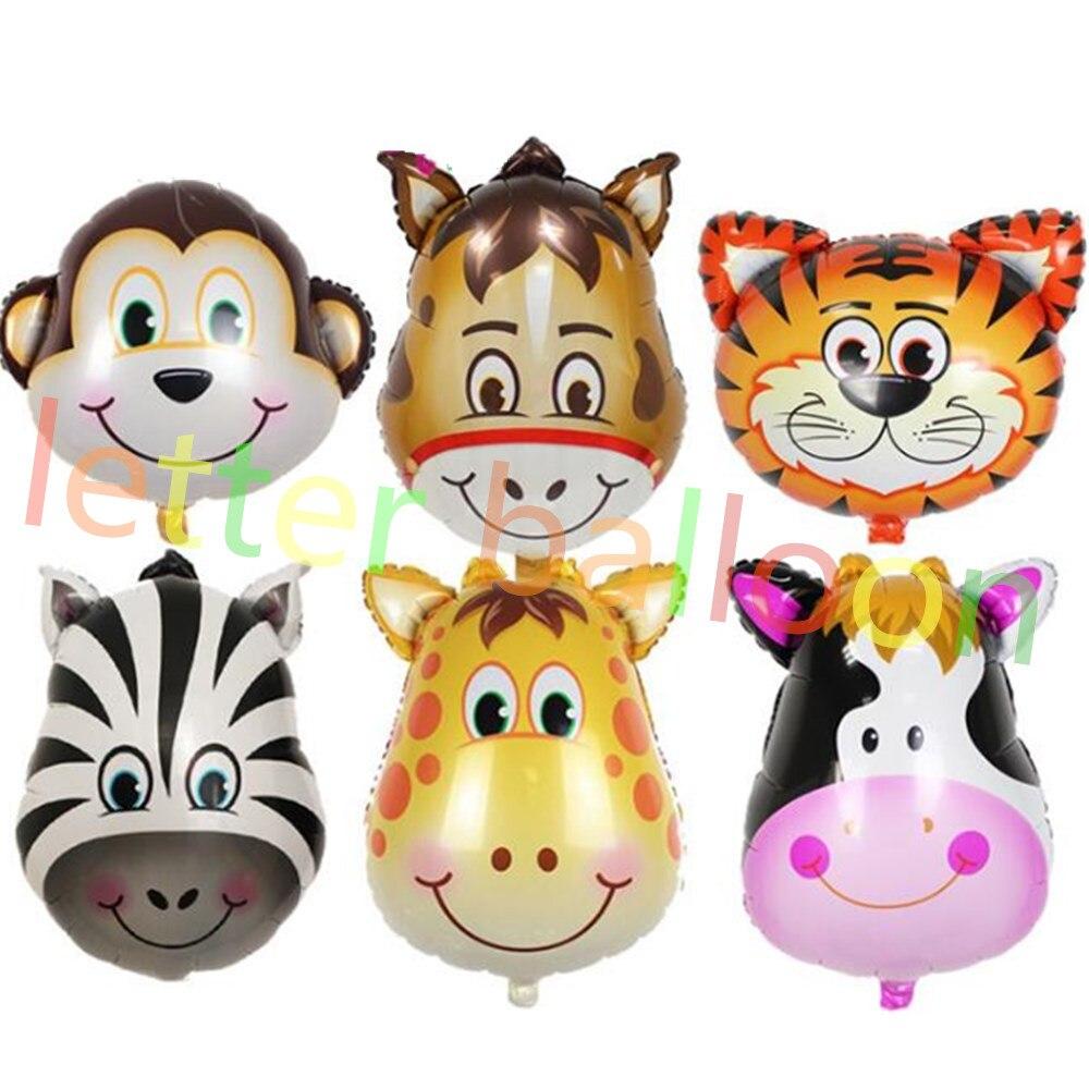 Medio formato 6 pz vendita cartone animato animale di alluminio