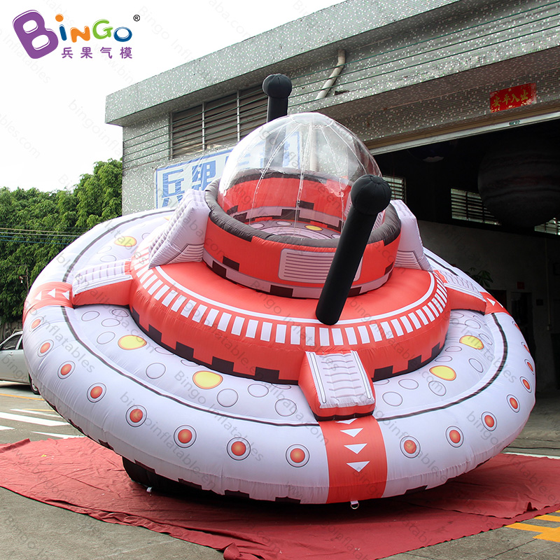 Alien theme event-5M giant UFO balloon/ inflatable UFO model -inflatable toy ao007 inflatable cake balloon event advertising 3 5m pvc fly balloon