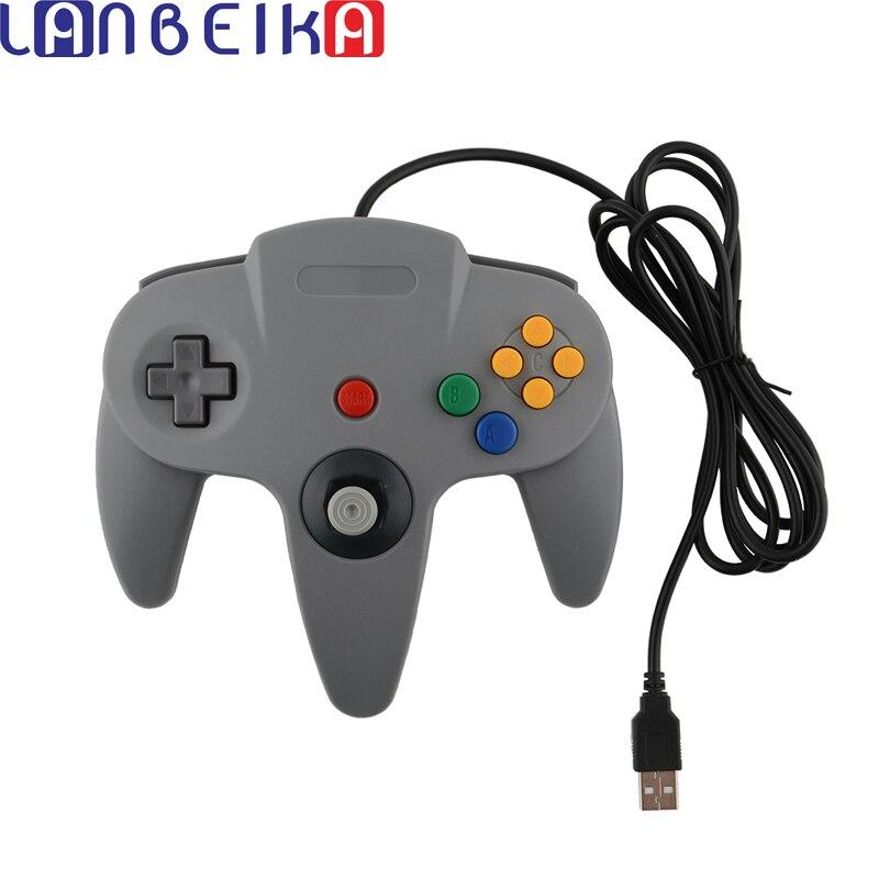 LANBEIKA Filaire Jeu USB Contrôleur de Jeu Joypad Joystick USB Gamepad Pour Nintendo Gamecube Pour N64 64 PC Pour Mac Gamepad