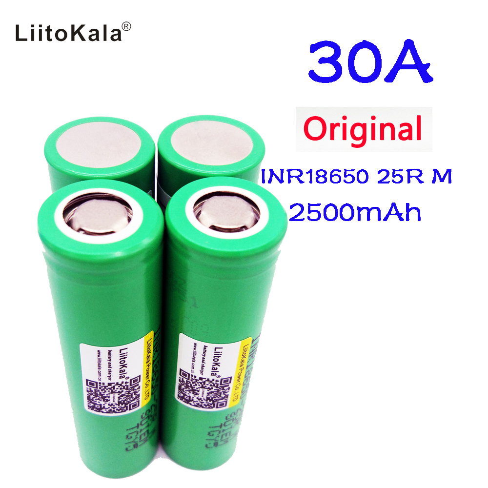 Original Liitokala For Samsung 18650 2500mah battery INR1865025R 20A discharge lithium batteries