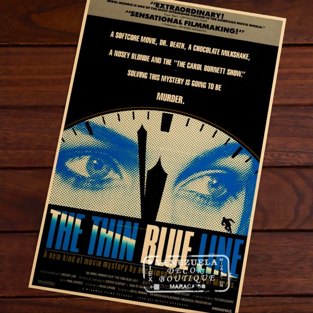 The Thin Blue Line Crime Film Wallpaper Classic Decorative Poster DIY Wall Canvas Painting Stickers Home