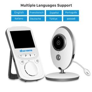 Image 2 - Wireless LCD Audio Video Baby Monitor Radio Nanny Music Intercom IR 24h Portable Baby Camera Baby Walkie Talkie Babysitter VB605