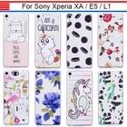 JURCHEN Phone Case For Sony Xperia XA Case Silicone Soft Cover For Sony Xperia E5 L1 Case For Sony Xperia XA Back Bags Cover