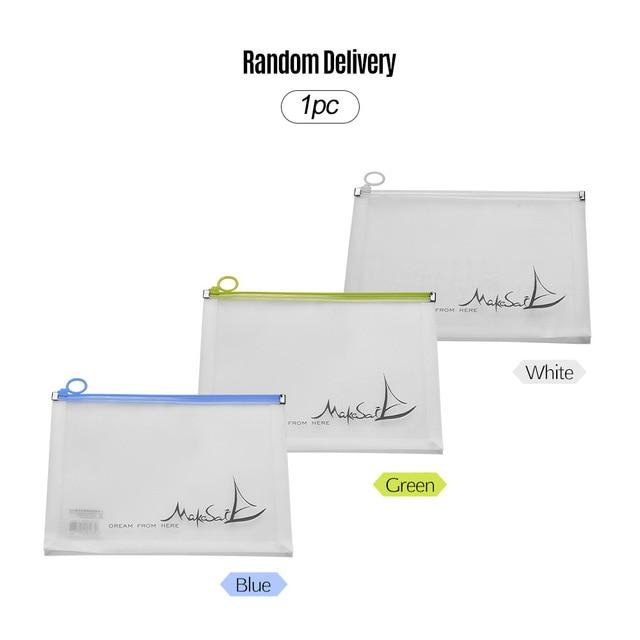 File Bag Plastic Envelope Waterproof Document Holder Portfolio with