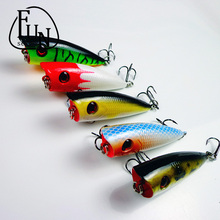 FunSeries Artificial Fishing Wobblers Lures 8# Hooks Popper Floating Minnow Baits 6cm/6.5g Fishing Tackle Crankbait