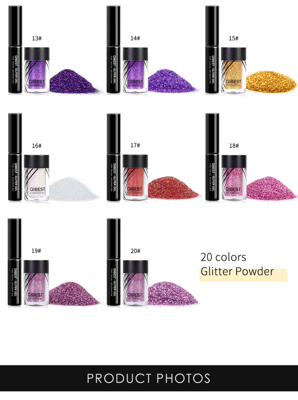 Eye Shadow Beauty & Health 2019 Latest Design Qibest Shimmer Glitter Powder Eye Shadow Face Eyes Lips Nails And Glue Waterproof Colorful Laser-makeup Brand Qibest #l18036