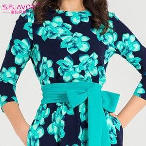 Image 5 - S.FLAVOR Women Bohemian long dress Hot sale Autumn winter fashion printing vestidos for female good quality women elegant dress