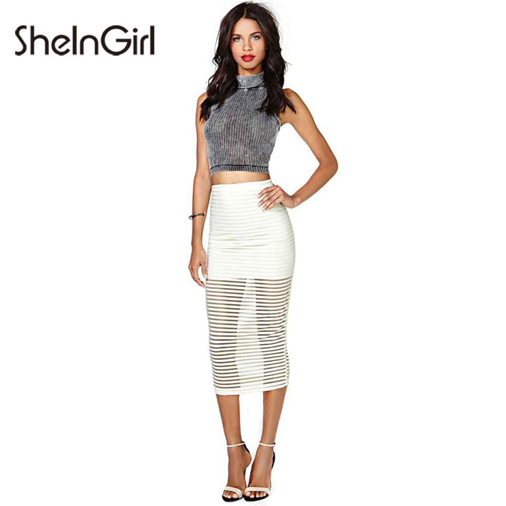 eac1863cd Ladies White Pencil Skirts
