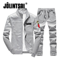 Jolintsai 2017 Zipper Jacket+Pant Polo Sweat Suit Men Plus Size XXXXL Hoodies&Sweatshirts Set Tracksuit Men Sweatpant Sportsuits