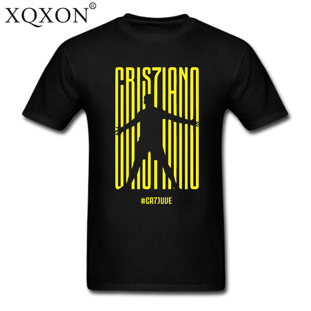 sports shoes c9ac7 b7911 US $1.0 22% OFF|XQXON new Men women Cotton Summer Ronaldo CR7 Juventus FC  Serie A #CR7 Turin T SHIRT, Football t shirt T shirt Tee tops D193-in ...