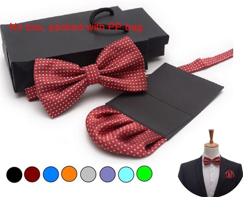 50 conjunto dos homens gravata borboleta conjunto de papel da inserção de bolso clássico quadrado lenço gravata borboleta e lenço set bowknot bowtie handki roxo casamento